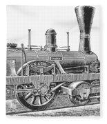 Locomotive Sandusky, 1837 Fleece Blanket
