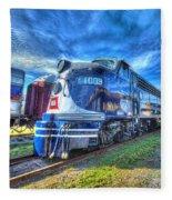 Locomotive Wabash E8 No 1009 Fleece Blanket