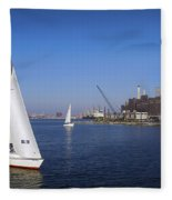 Locust Pt Sailing Fleece Blanket