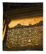 Loge Of The Sultan In Hagia Sophia  Fleece Blanket