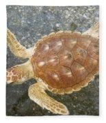 Loggerhead Turtle Fleece Blanket