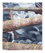 Logs Fleece Blanket