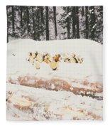Logs Fleece Blanket