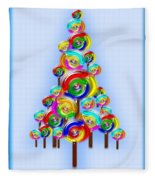 Lollipop Tree Fleece Blanket
