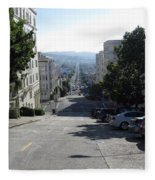 Lombard Street. San Francisco 2010 Fleece Blanket
