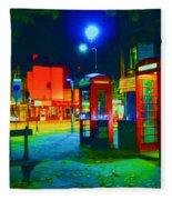 London At Night Fleece Blanket