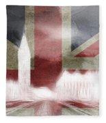 London Big Ben Abstract Fleece Blanket