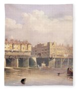 London Bridge, 1835 Fleece Blanket