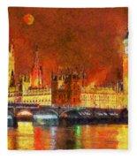 London By Night Fleece Blanket