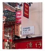 London Chinatown 02 Fleece Blanket
