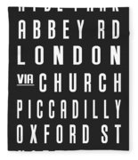 London City Subway Fleece Blanket