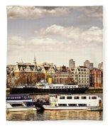 London From Thames River Fleece Blanket