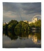 London - Illuminated And Reflected Fleece Blanket