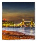 London Night View Fleece Blanket