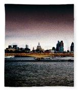 London Over The Waterloo Bridge Fleece Blanket