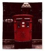 London Post Box Fleece Blanket