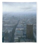 London Skyline Cityscape Fleece Blanket