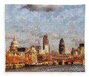 London Skyline From The River  Fleece Blanket