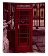 London Telephone Fleece Blanket