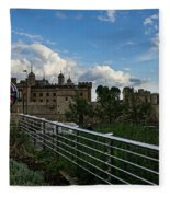 London Underground And The Tower Of London Fleece Blanket