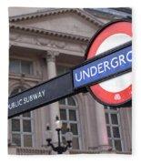 London Underground 1 Fleece Blanket