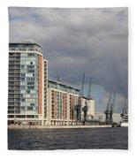 London Victoria Dock Fleece Blanket