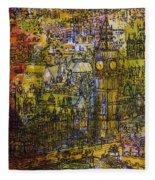 London, Westminster Pen & Ink With Wc On Paper Fleece Blanket