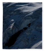 Lone Alpinist Silhouetted On Heavily Fleece Blanket