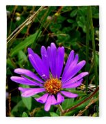 Lone Aster Fleece Blanket