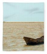 Lone Canoe Fleece Blanket