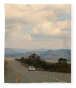 Lone Car Fleece Blanket