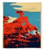 Lone Cypress Poster Fleece Blanket