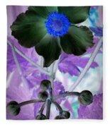 Lone Flower 1 Fleece Blanket