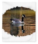 Lone Goose Fleece Blanket