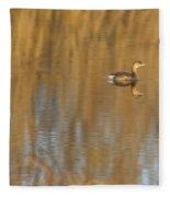 Lone Grebe Fleece Blanket