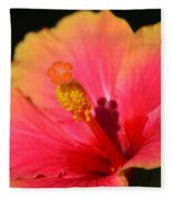 Lone Hibiscus Fleece Blanket