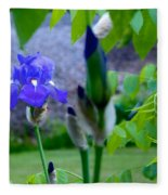 Lone Iris Fleece Blanket