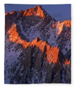 Lone Pine Peak - February Fleece Blanket