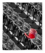 Lone Red Number 21 Fenway Park Bw Fleece Blanket