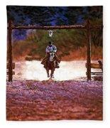 Lone Rider Fleece Blanket