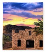 Lone Star Sunset Fleece Blanket
