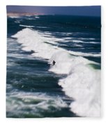 Lone Surfer Fleece Blanket