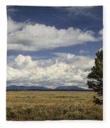 Lone Tree In The Grand Teton National Park Fleece Blanket