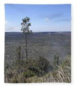 Lone Tree Kilauea Crater Fleece Blanket