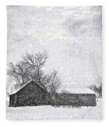 Loneliness Sketch Fleece Blanket