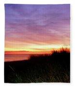 Lonely Beach At Sunrise Norfolk Va Fleece Blanket