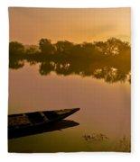 Lonely Boat Fleece Blanket