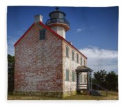 Lonely East Point Lighthouse Fleece Blanket