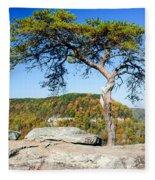 Lonely Lonesome Pine Fleece Blanket