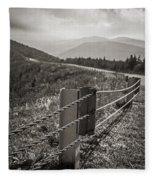 Lonely Mountain Road Fleece Blanket